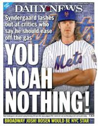 Noah Syndergaard when it was strike one (Photo: New York Daily News)