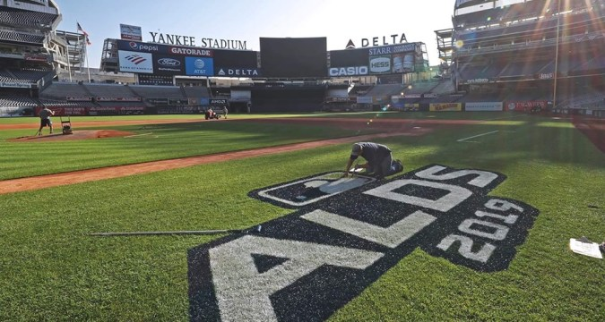 Yankees Stadium Prepped and Ready For The 2019 ALDS