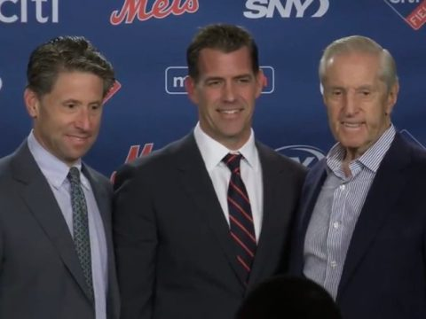 Mets Van Wagenen and the Wilpons (Photo: Mets Merized)