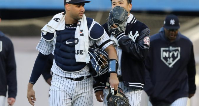 Gary Sanchez - Smitten by the Yankees (Photo by Elsa/Getty Images)