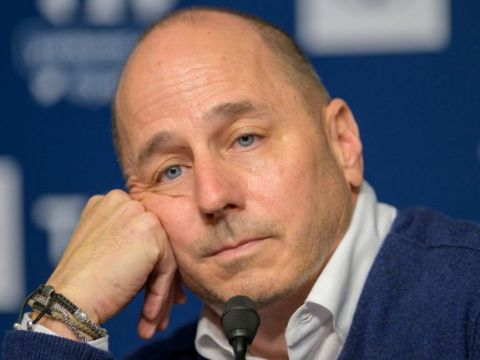 Brian Cashman Yankees stealth bomber (Photo: Newsday)