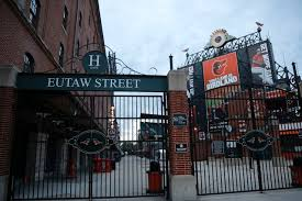 Yankees arrive to a normally active Eutaw St. (nj.com)