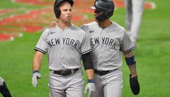Brett Gardner comes through for the Yankees in Game 1 vs. Cleveland 9/29/20 ((Jason Miller/Getty Images))