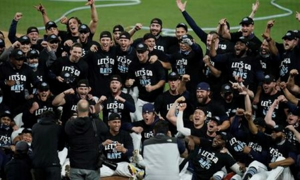 Tampa Bay Rays Team Celebration Following 2020 ALDS