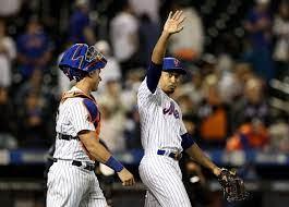Mets Tylor Megill Basks in the moonlight (NY Daily News)