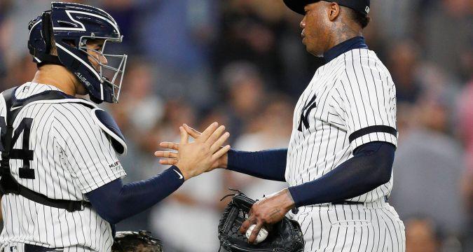 Gary Sanchez leads Aroldis Chapman to a save (NY post)