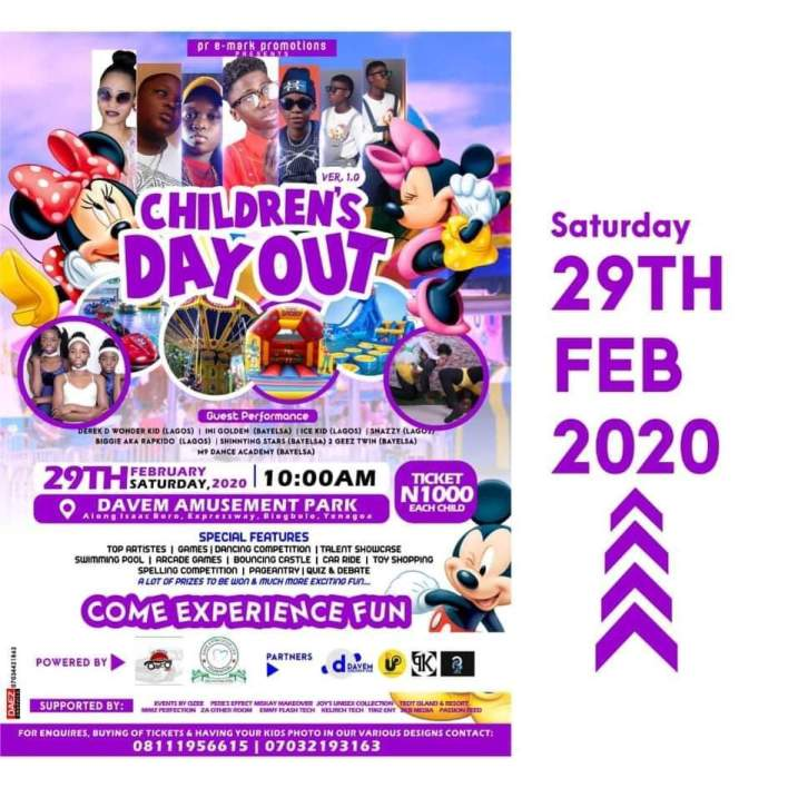 CHILDREN'S DAY OUT - MOST EXCITING CHILDREN PARTY IN TOWN