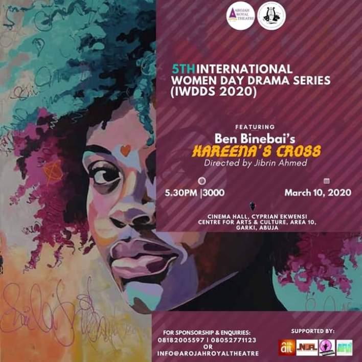 Binebai's 'Kareena's Cross' hits Abuja Stage on Tuesday March 10