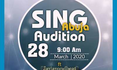 Be the Next Big Star, Join Sing Abuja 2020 Today, Fabulous Prizes and Recording Deal