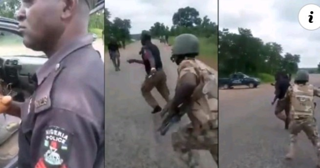 Photo of Soldiers beat Policemen Extortion Along Aba road [Video]