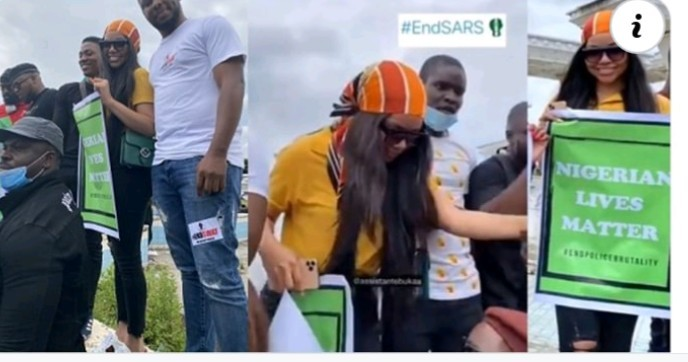Photo of #EndSARSNow Movement: Angry Fan Blasts Nengi Says 'Protest, Not Fashion Show'