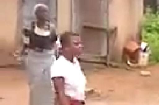 Photo of #EndSARS Protest: Grandma Breaks Bottle, Chase Grand-daughter [Video]
