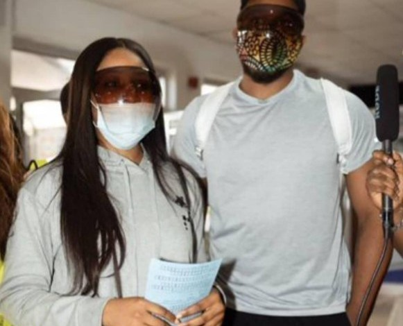 Photo of Lovebirds: Erica, Kiddwaya Arrived Sierra Leone in Matching Outfits [Video]
