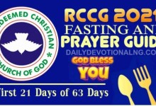 Photo of RCCG 63 Days Fasting And Prayer Points 25th January 2021 – Day 15