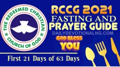 RCCG RCCG Fasting and Prayer Points 31st January 2021 Day 21 And Prayer Points 30th January 2021 - Day 20