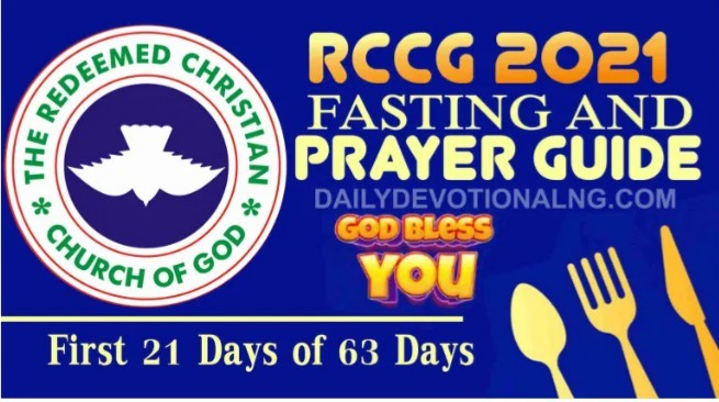 RCCG 63 Days Fasting And Prayer Points 28th January 2021 - Day 18