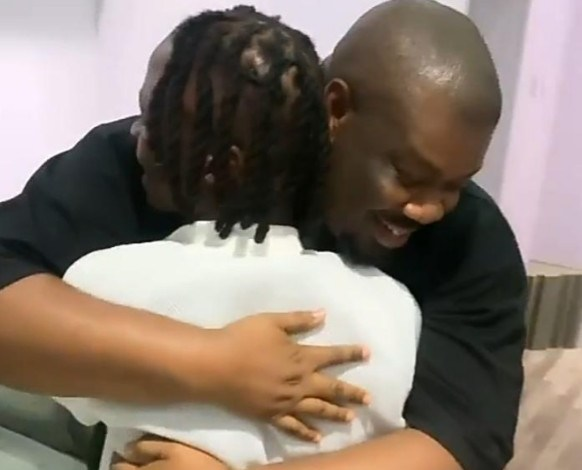 Laycon Pays Homage To Don Jazzy, Meeting Him For The First Time [Video]