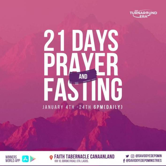 Winners Chapel 21 Days Fasting And Prayer January 20, 2021 - Day 17 Prayer Points