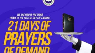 Phase 3 RCCG 63 Fasting And Prayer 4th February 2021 – Day 11 Prayer Points