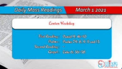 Online Catholic Daily Mass Readings Monday 1st March 2021