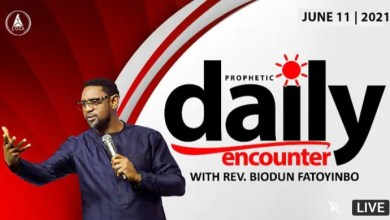 Daily Prophetic Encounter With Pastor Biodun Fatoyinbo 11th June 2021