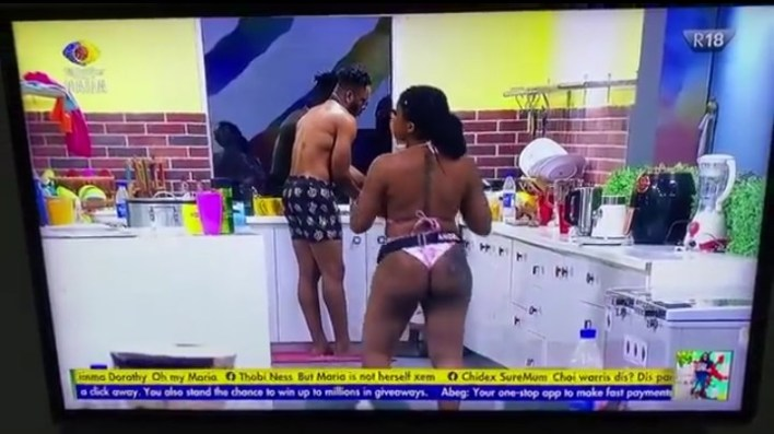 BBNaija Angel Comes Out Raw With Sammie After Jacuzzi Party