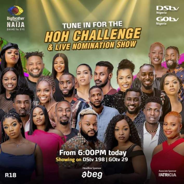 Live Streaming BBNaija HoH Game and Nomination 23 August 2021