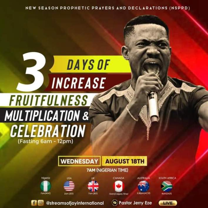Live NSPPD Jerry Eze Prophetic Prayers 18 August 2021 |ALTAR OF FIRE|