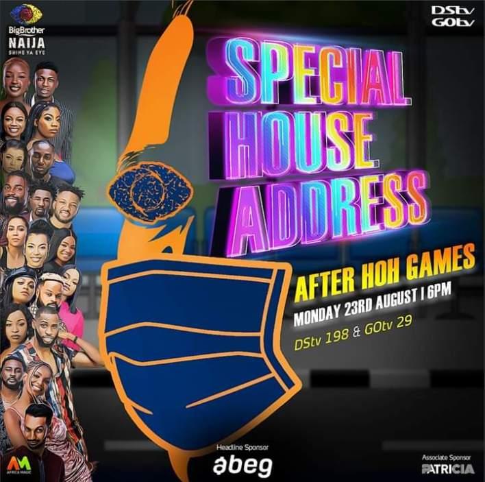 Watch Live Streaming Special House Address BBNaija 2021