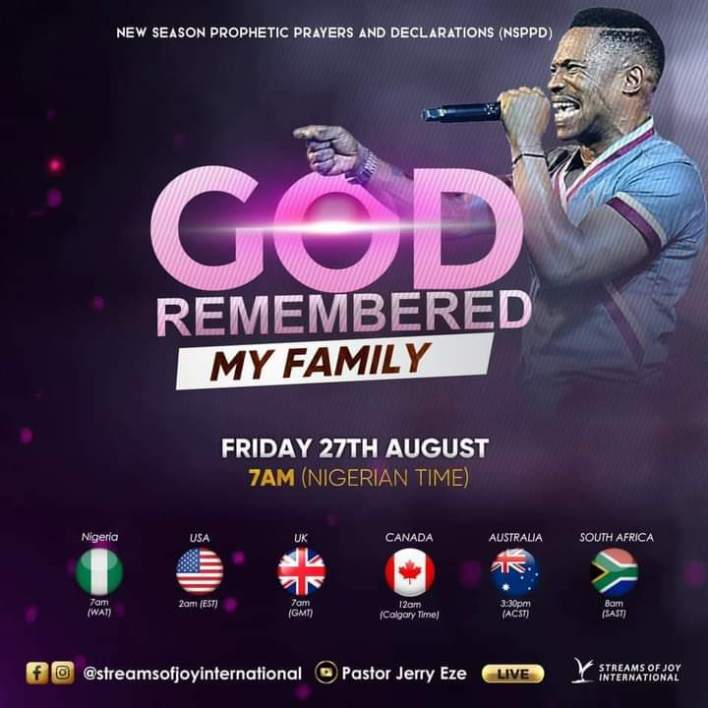Live Jerry Eze NSPPD Prophetic Prayers 27 August 2021 |FIRE PRAYER|