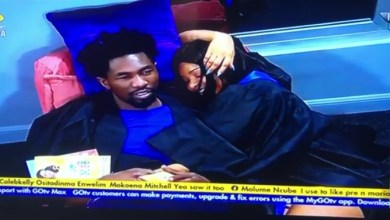 BBNaija Queen Kisses Boma, Accused of Forcing Herself on Him