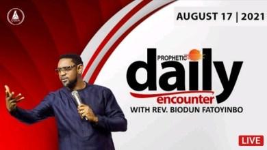 Today Prophetic Prayers With Pastor Biodun Fatoyinbo 17 August 2021