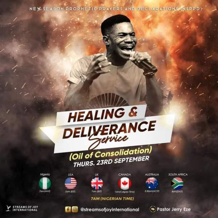 Live NSPPD Jerry Eze Prophetic Prayers 23 September 2021 - Healing