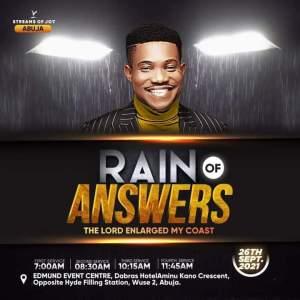 Live Jerry Eze Sunday Service 26 September 2021 - Rain of Answers