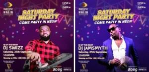 BBNaija Live Saturday Night Party 26 September 2021 - DJs Swizz & Jaysmyth