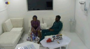BBNaija Pere and Angel in White Room, To Play Double Jeopardy Task