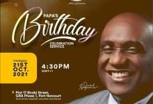 Today David Ibiyeomie 59th Birthday Celebration in Port Harcourt