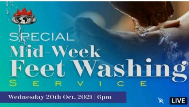 Live David Abioye Today Feet Washing 20 October 2021 - Winners' Chapel