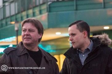 Philip Hasselbach (Die Rechte) und Hartmut Wostupatsch (Die Rechte)