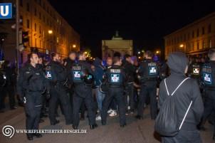 Blockade auf der Ludwigsstraße