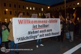 12.10.15 München - Pegida München NPD Transparent