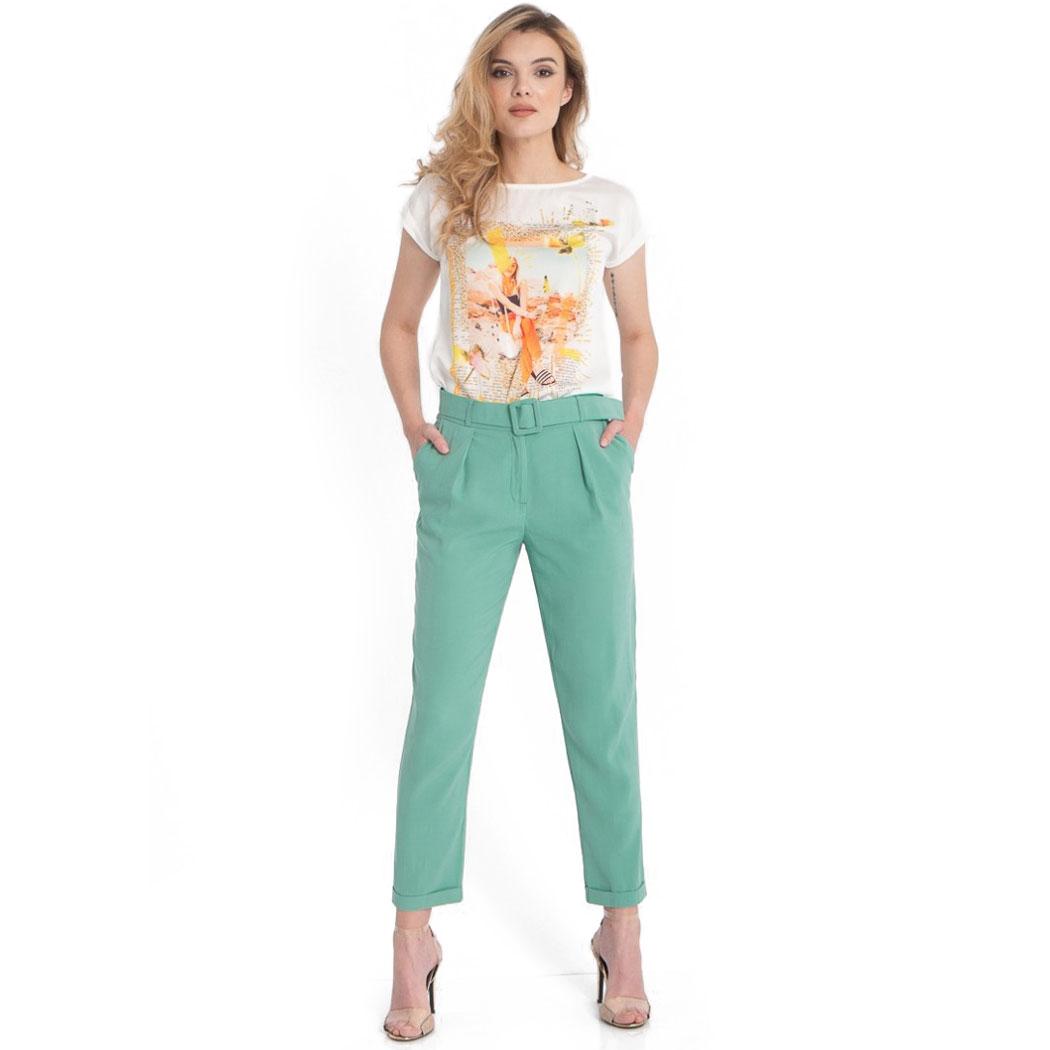 Pantaloni Hermosa Verzi