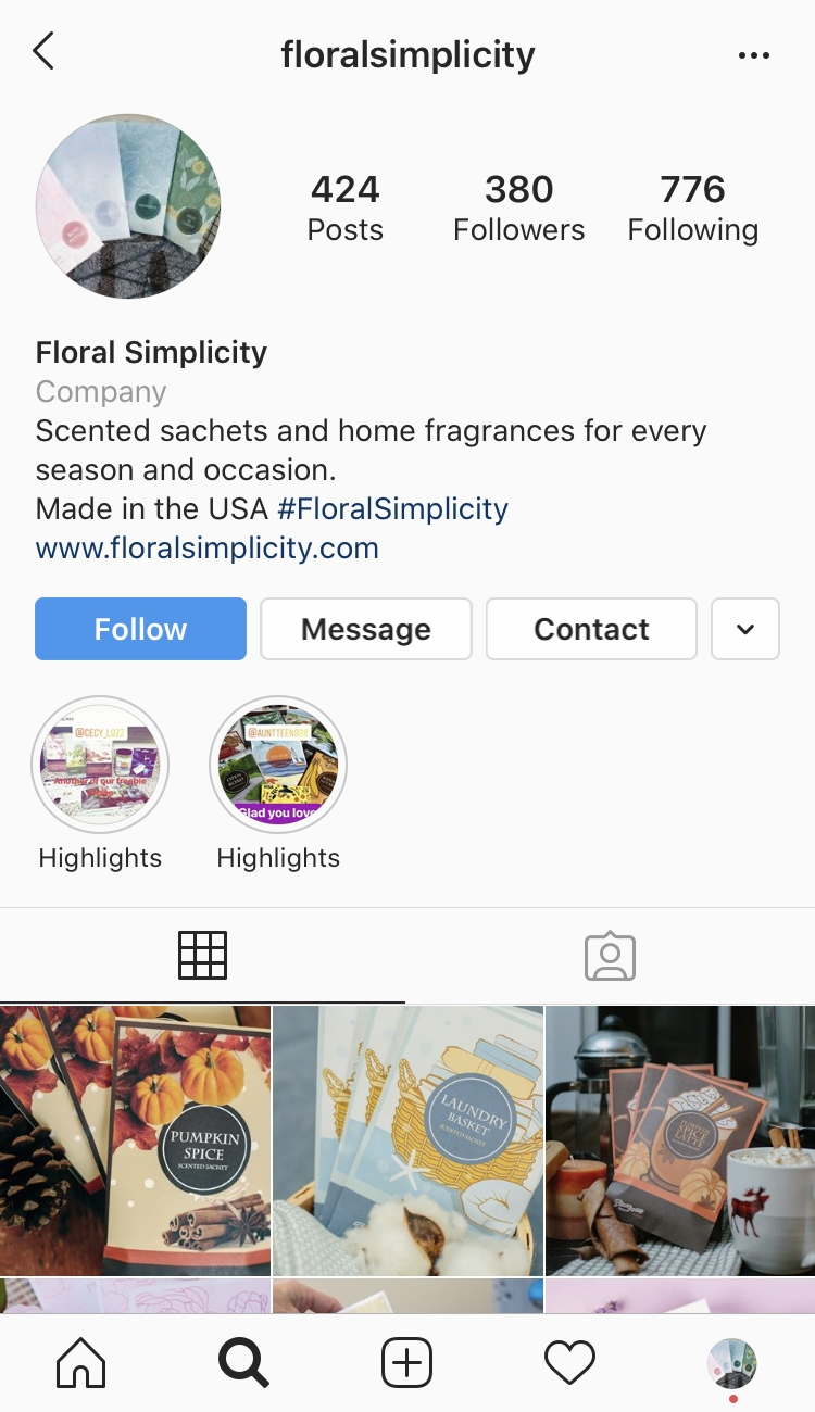 Floral Simplicity Social Media Marketing Instagram