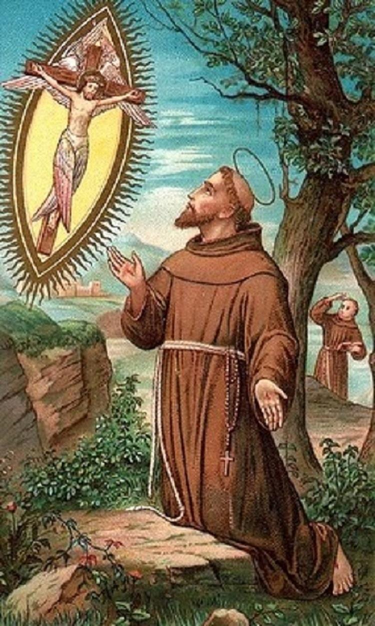 L'impression des Stigmates de Saint François d'Assise. Fête le 17 Septembre.