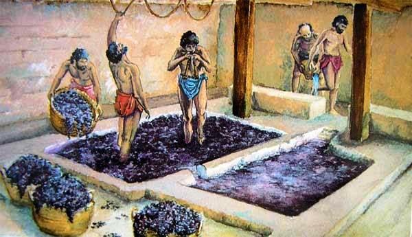 elaboración de vino en la antiguedad