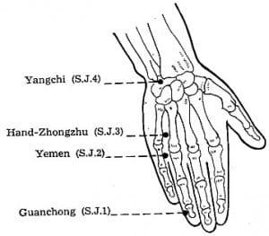 toothache reflexology points Point SJ 2