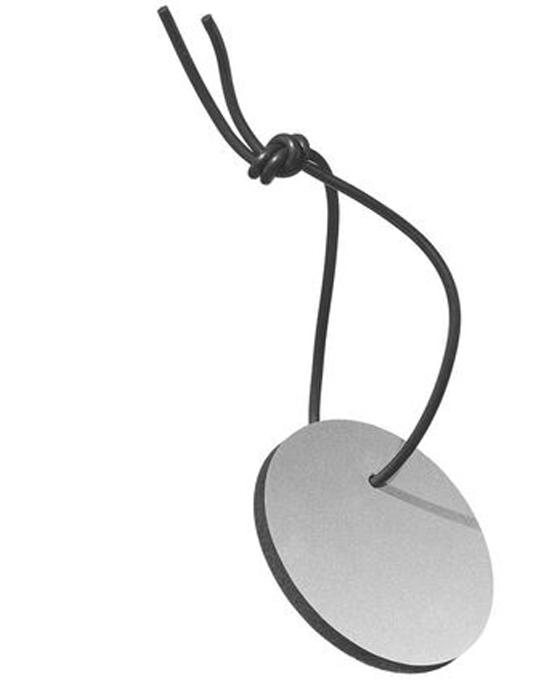 Swinging Reflector Round Silver
