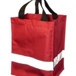 Shoppingbag med refleks Rød
