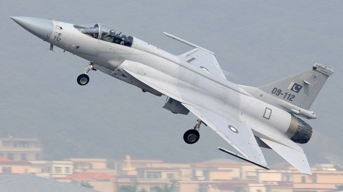 Pakistan shortly before receiving 12 JF-17B Thunder fighters