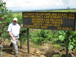 Ann & Anis Racy sponsored this 2 ½-acre forest to balance their family's greenhouse gas emissions and to further research into forests on farms in the tropics.